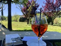 cocktail in giardino del Relais Osteria dell'Orcia a Bagno Vignoni