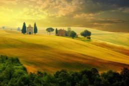 golden hour cappella di Vitaleta
